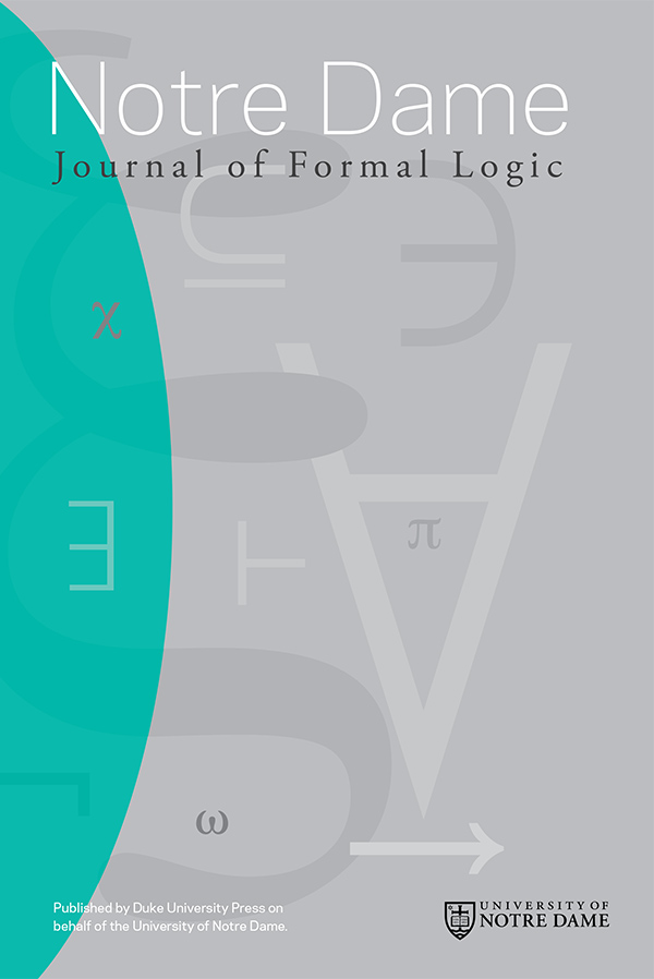 Notre Dame Journal of Formal Logic