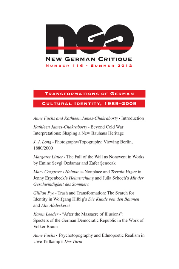 Transformations of German Cultural Identity, 1989–2009392