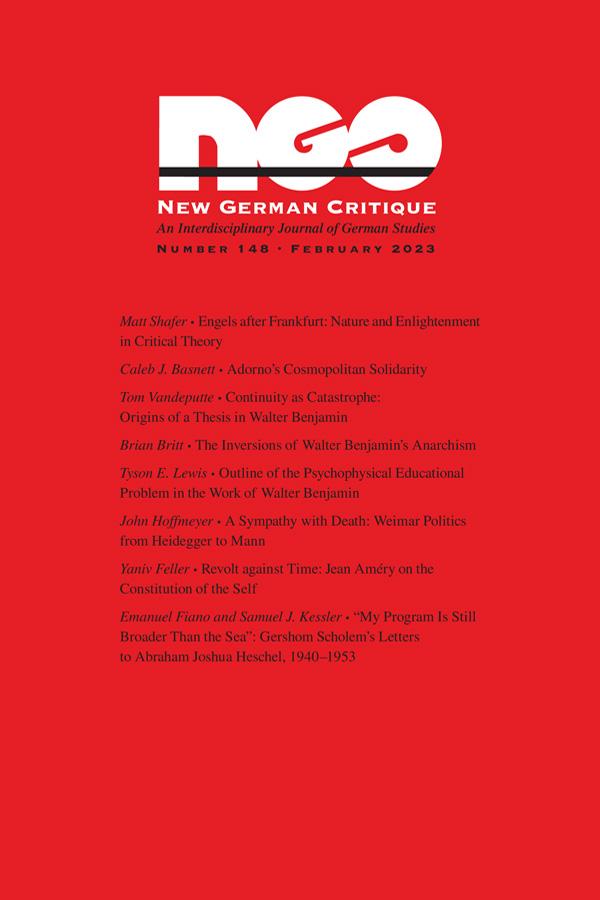New German Critique