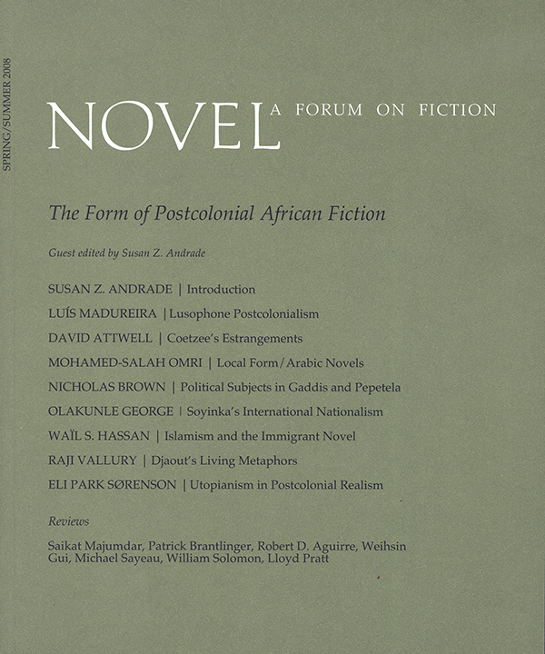 The Form of Postcolonial African Fiction