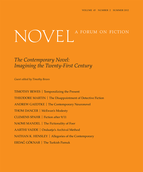 The Contemporary Novel: Imagining the Twenty-First Century452