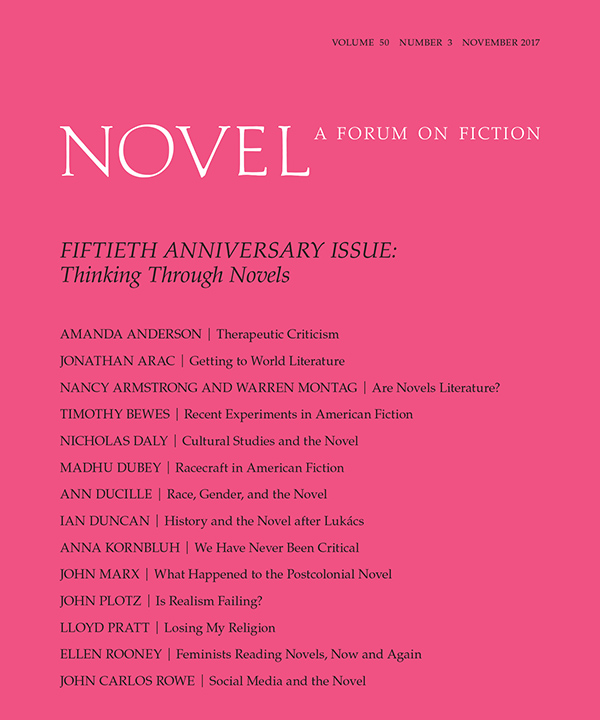 50th ANNIVERSARY ISSUE: Thinking Through Novels