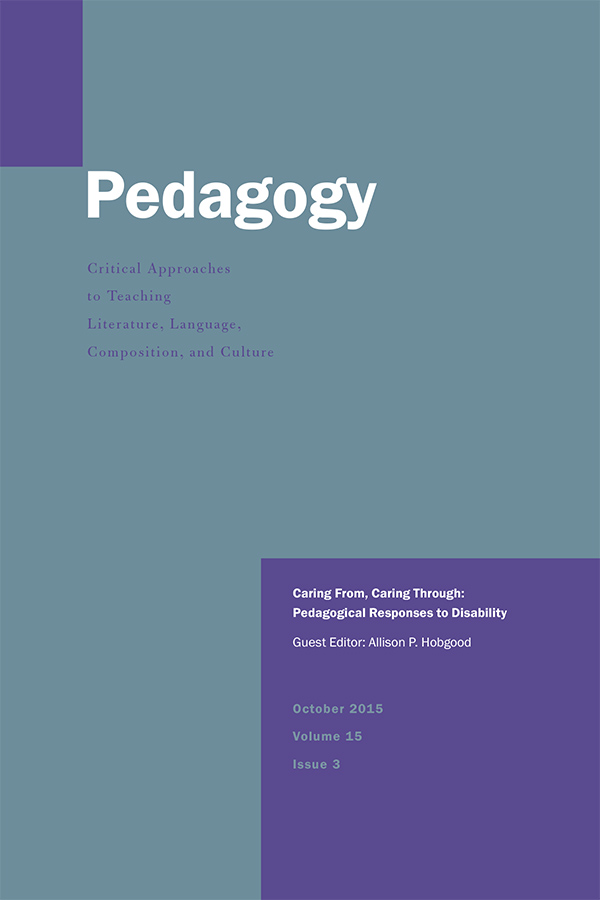 Caring From, Caring Through: Pedagogical Responses to Disability