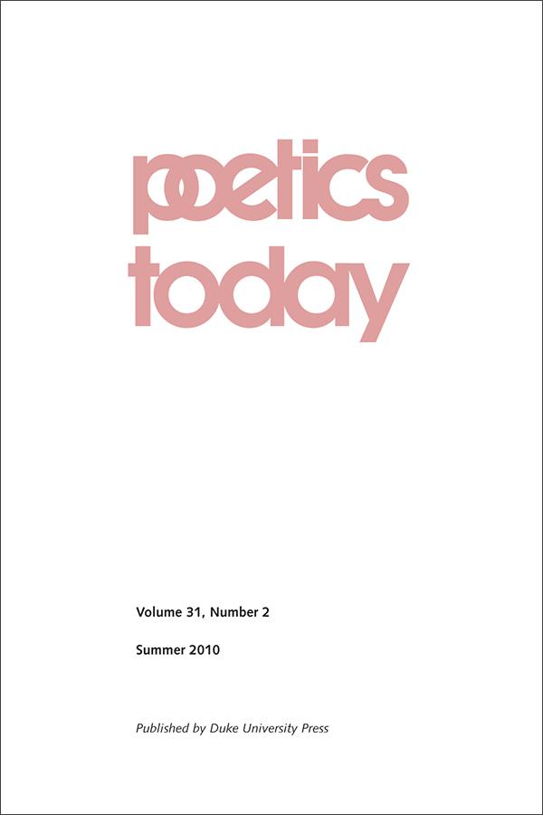 Poetics Today 31:2
