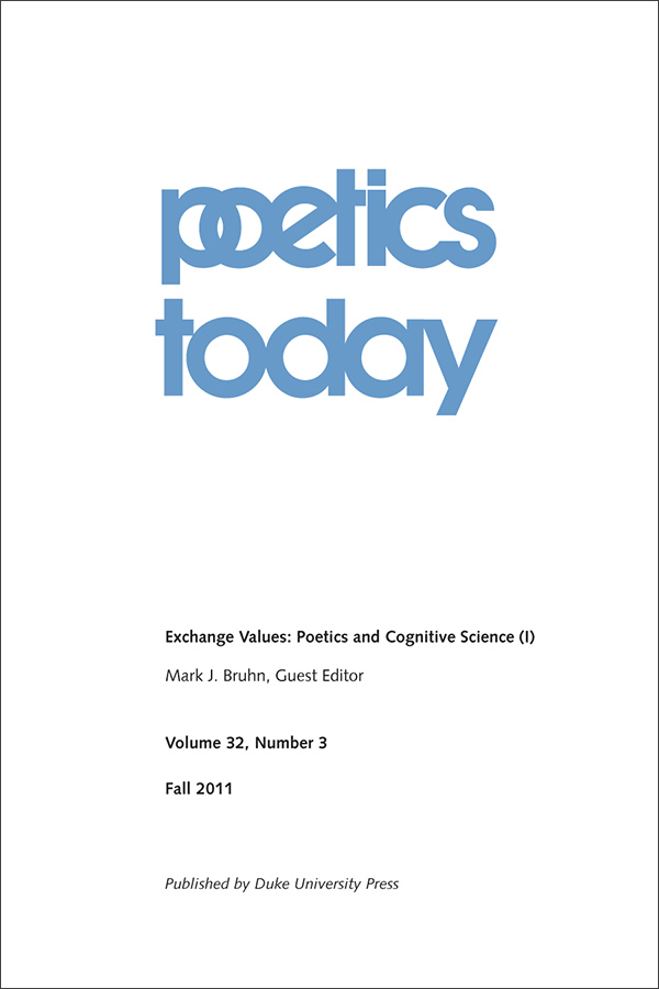 Exchange Values: Poetics and Cognitive Science (I)