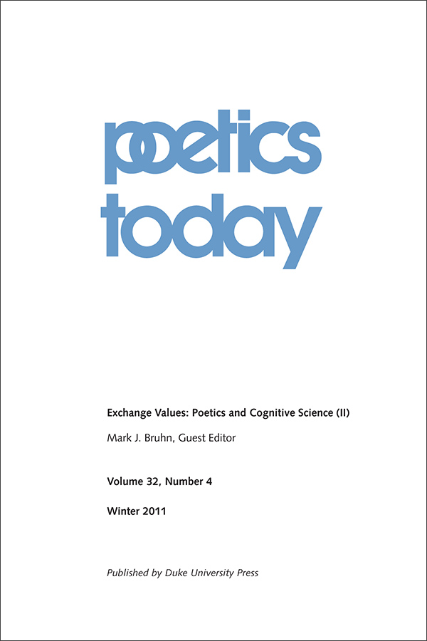 Exchange Values: Poetics and Cognitive Science (II)324