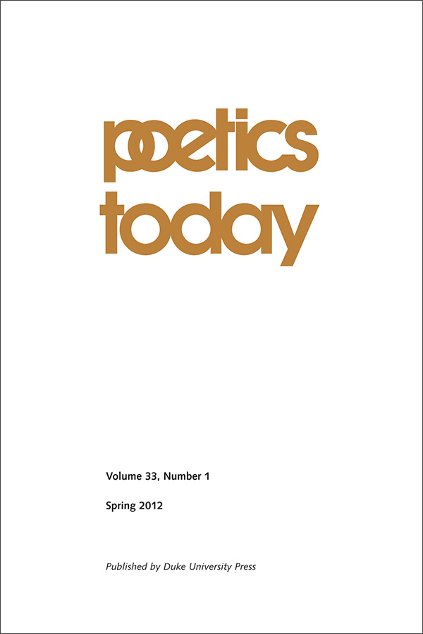 Poetics Today 33:1331