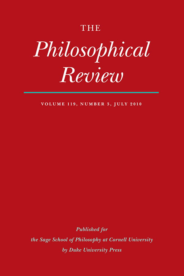 The Philosophical Review 119:3