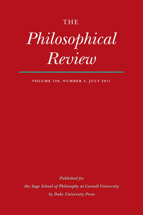 The Philosophical Review 120:3