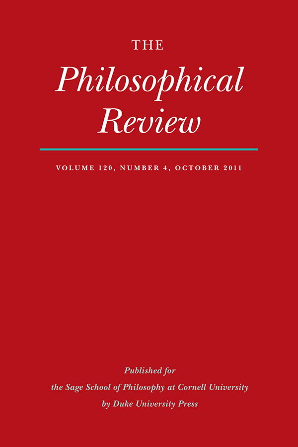 The Philosophical Review 120:4