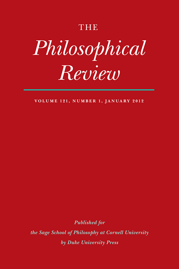 The Philosophical Review 121:1