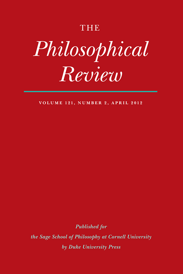 The Philosophical Review 121:2