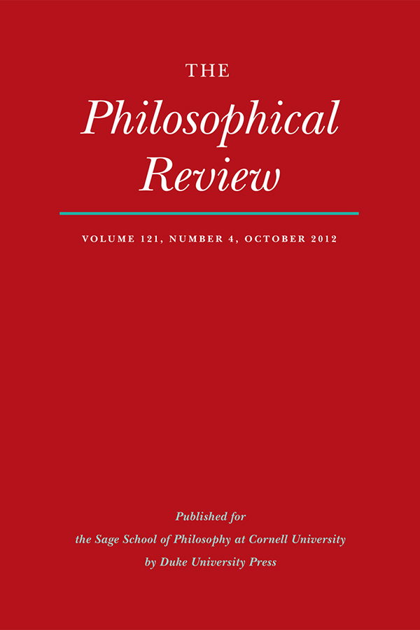 The Philosophical Review 121:4