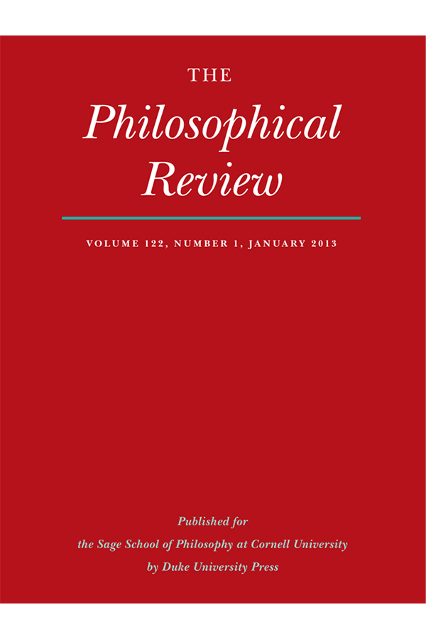 The Philosophical Review 122:1
