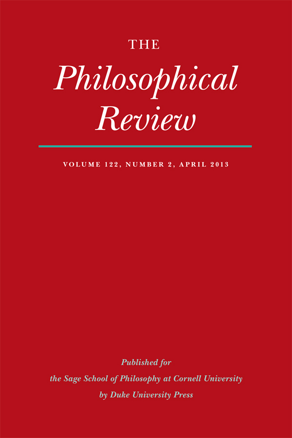 The Philosophical Review 122:2