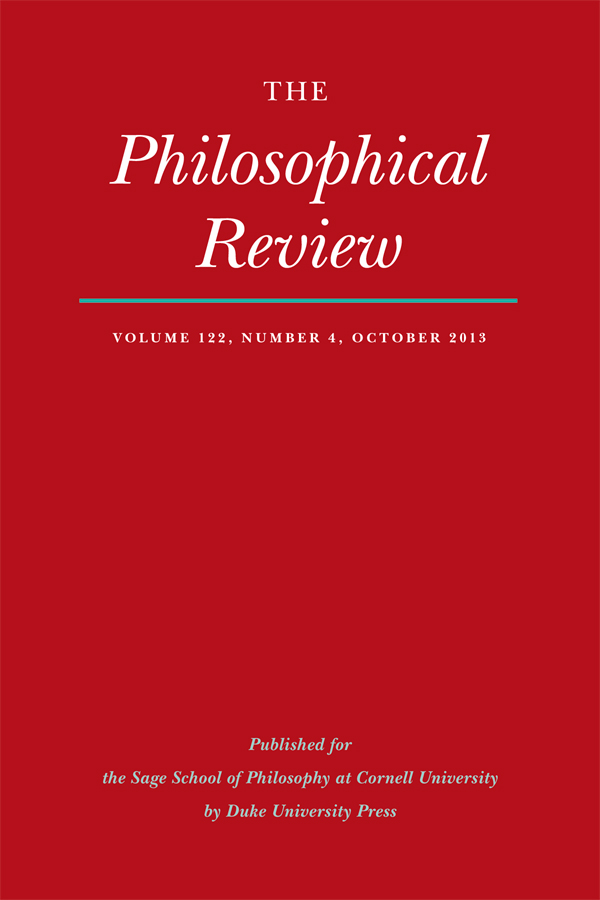 The Philosophical Review 122:4