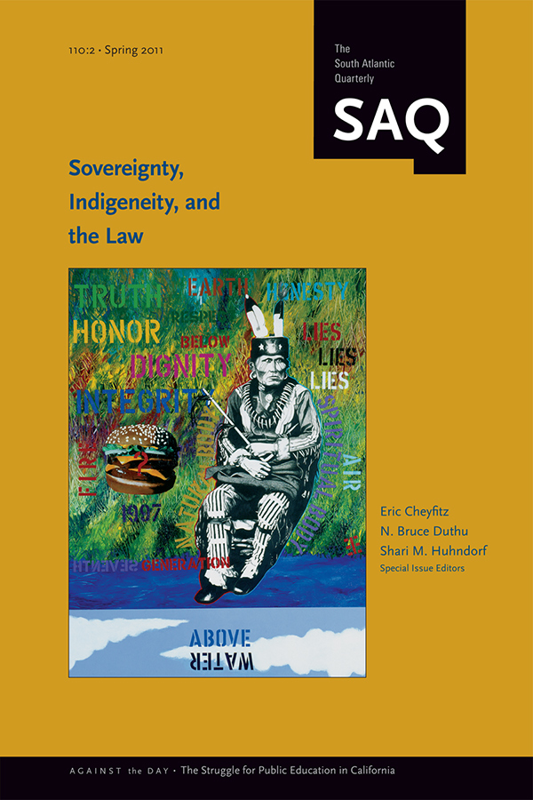 Sovereignty, Indigeneity, and the Law1102