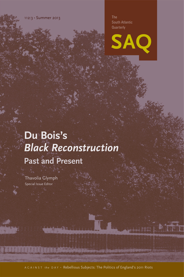 Du Bois's Black Reconstruction: Past and Present1123