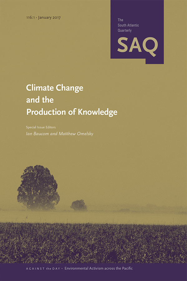 Climate Change and the Production of Knowledge1161