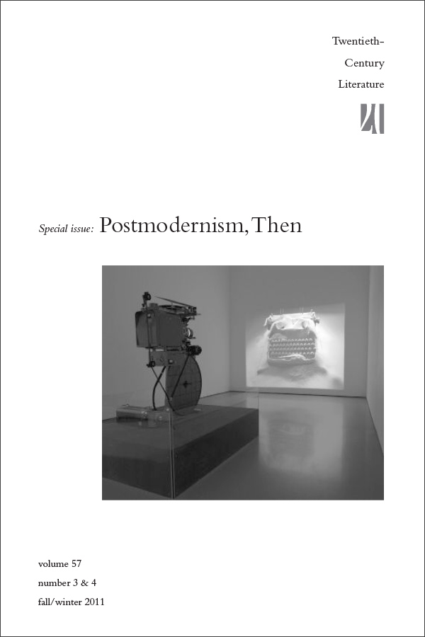 Postmodernism, Then