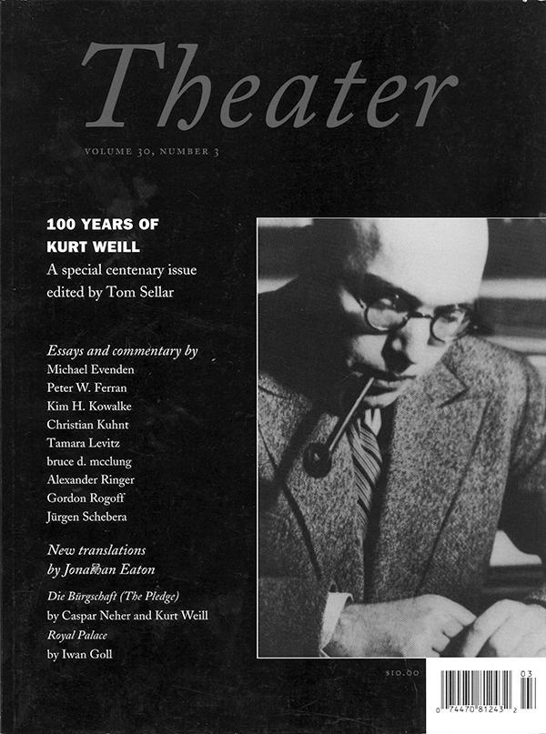 100 Years of Kurt Weill