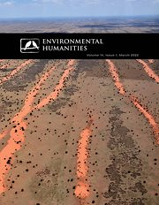 Environmental Humanities current cover